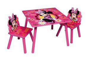 Set Tavolo E Sedie Minnie.Dettagli Su Minnie Mouse Tavolo E Sedie Set In Legno Cameretta Bambini Stanza Giochi Mobili