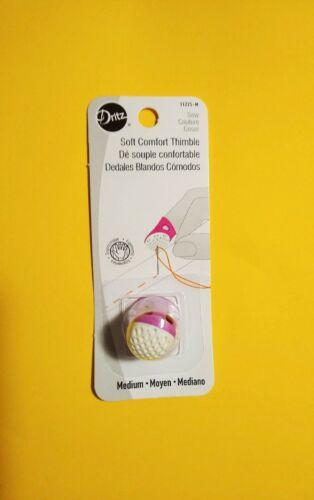 Ergonomic Design # 11725-M Dritz Fuchsia Soft Comfort Thimble Medium Size