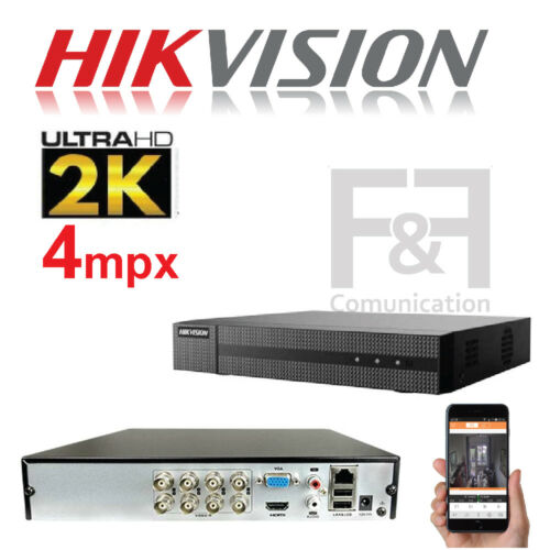VIDEOREGISTRATORE DVR NVR AHD HDCVI 8 CANALI 4 MPX ULTRAHD HIKVISION HDMI VGA