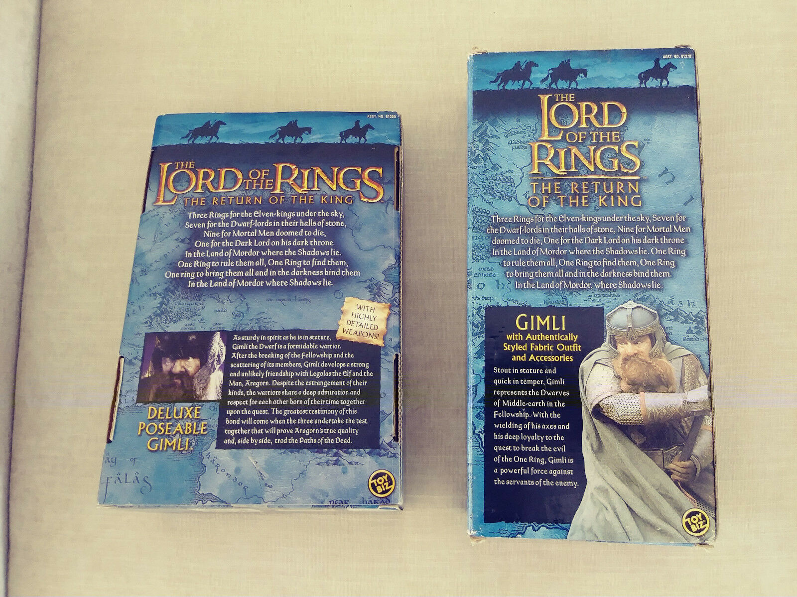 The Lord of the Rings Rings Rings  The Return of the King - Two Action Figure Of Gimli 9f67bd
