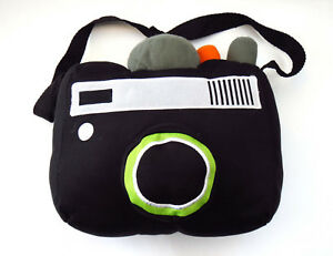 PHOTO-CAMERA-SLR-CYRIL-PLUSH-SOFT-TOY-PILLOW-LENS-PHOTOGRAPHY-23x20x14cm