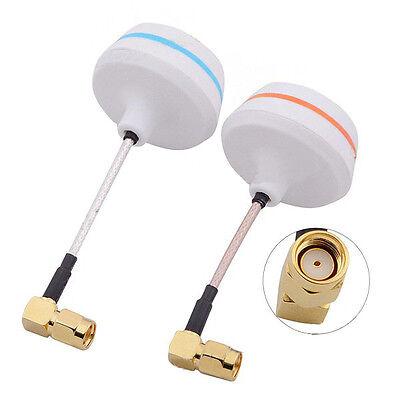 1 pair 5.8G Gain Antenna Clover 3&4 Leaf L RP-SMA TX & RX for RC FPV Audio Video