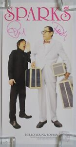 SPARKS-Hello-Young-Lovers-2006-SIGNED-Promo-POSTER-AUTOGRAPHED-Russell-MAEL-Ron