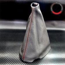 Peugeot 206 Cc Hdi Gti Sw Rojo Stitch Negro Cuero Gear Stick Perilla Tapa Polaina