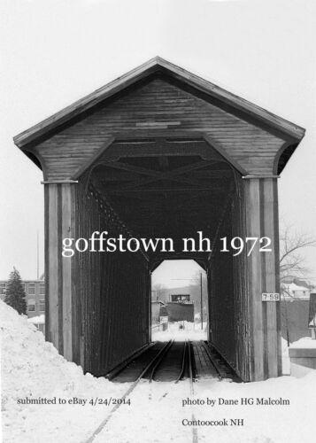 "Boston /& Maine RR Covered Bridge Snowplow  Goffstown NH  1972 4x6/"" photo"