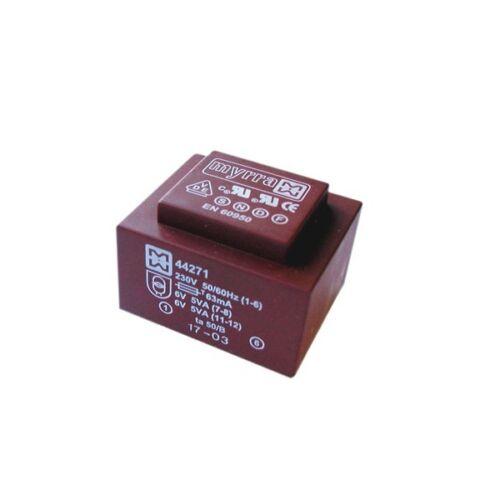 Encapsulé mains isolé 230V pcb transformateur de puissance 1,5 va 0-12v 0-12v sortie