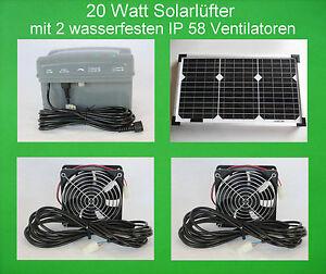 10 W wasserfester Solarlüfter IP58 Solar Axial Lüfter Solarventilator Ventilator