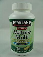 Kirkland Adult 50+ MATURE MULTI VITAMINS & MINERALS 400 Tablets Sealed