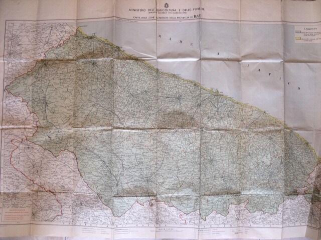 Bari Cartina Geografica.2 Guerra Mondiale Cartina Geografica Della Provincia Di Bari Anno 194 Tr 8 Ebay