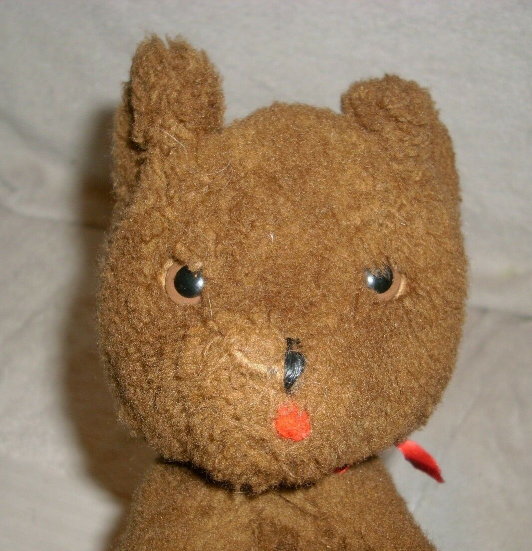 7.5  VINTAGE BROWN TAN EDEN EDEN EDEN TEDDY BEAR WIND UP MUSICAL STUFFED ANIMAL PLUSH TOY ee9803