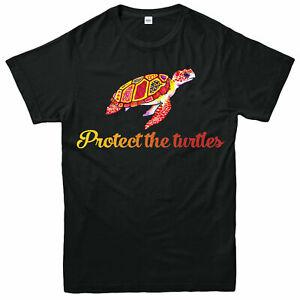 Proteger-les-Tortues-T-shirt-proteger-tortue-de-mer-Habitat-Adultes-amp-Enfants-Tee-Top