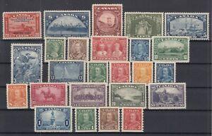 Y4634-CANADA-1933-1935-MINT-SEMI-MODERN-LOT-CV-385