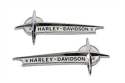 Harley Davidson Gas Tank Emblems/Nameplates - Panhead Style | eBay