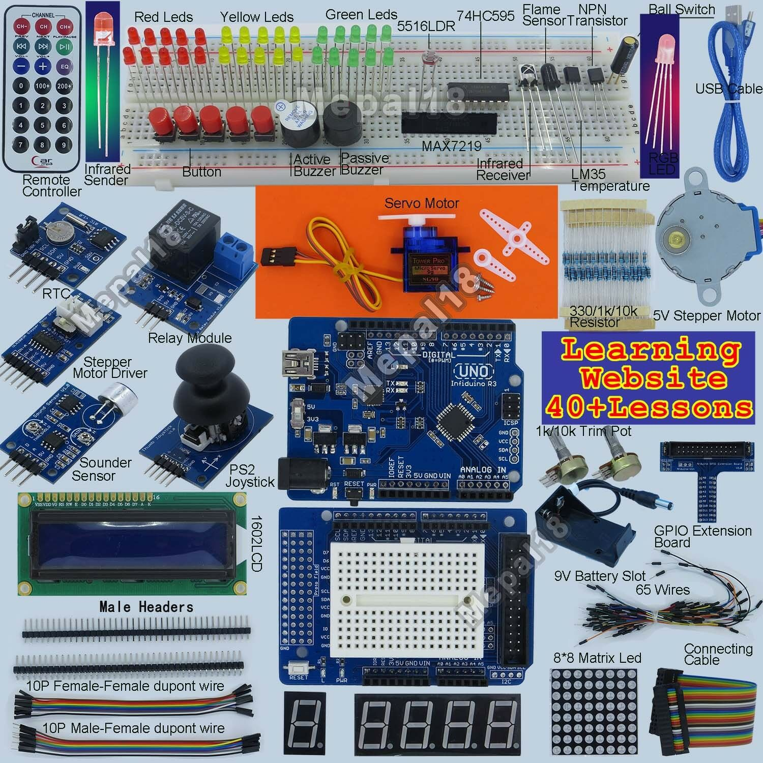 New Ultimate Uno R3 Starter Kit For Arduino 1602 Lcd Servo Motor Need Help With My Game Show Buzzer Electronics Forum Circuits Relay Rtc Led