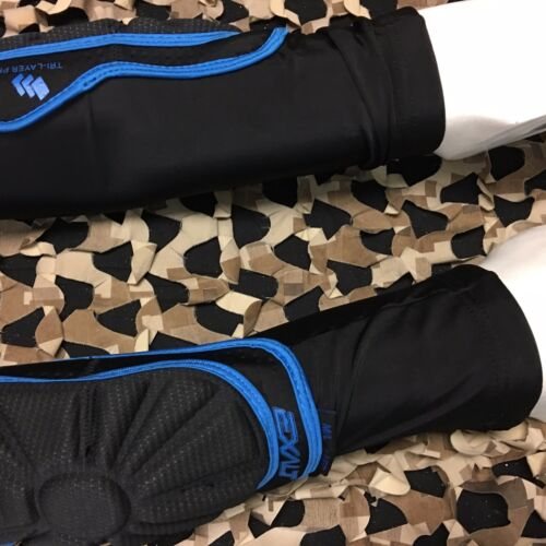NEW Exalt Paintball T3 Elbow Pads Black//Blue Large//XL