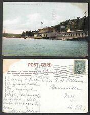 1907 Canada Postcard - Halifax, Nova Scotia - North West Arm of Boat Club