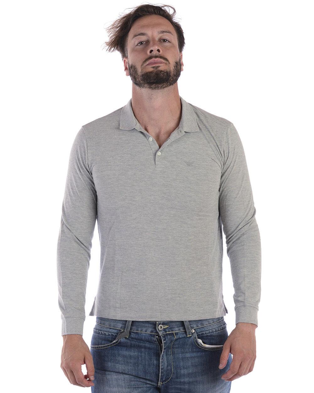 Polo Emporio Armani Shirt Cotone Uomo Grigio 8N1F131J0SZ 616