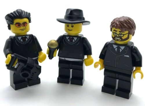 LEGO 3 NEW BUSINESSMEN MINIFIGURES MEN PEOPLE IN SUITS FIGURES