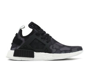 100% authentic e2966 4673b Image is loading Adidas-NMD-XR1-Black-Grey-Duck-Camo-Sneaker-