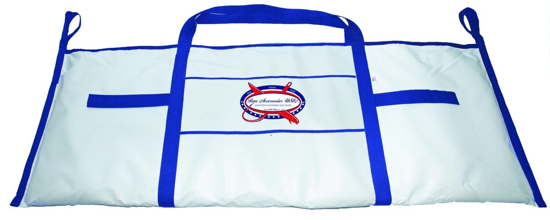 NEW Raw Accessories USA Wahoo Fish Tasche-Weiß & Blau 72 X30  WFBWB