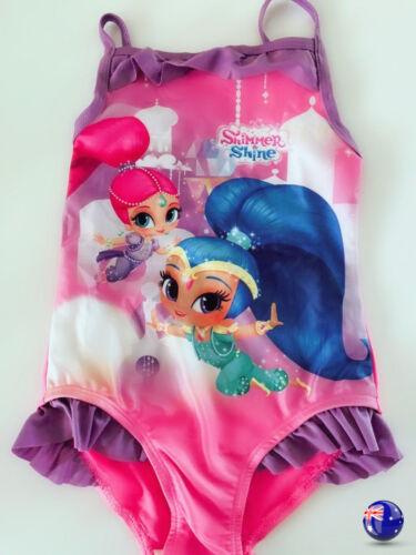 Girls Kids Shimmer and Shine Leotard Swimwear Bathers Swim Swimsuits Togs 3-8 yr