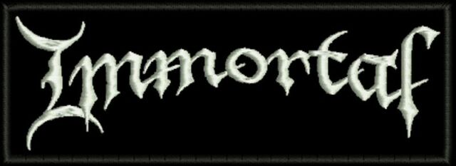 IMMORTAL EMBROIDERED PATCH INQUISITION DARKTHRONE ENSLAVED Metal Negro