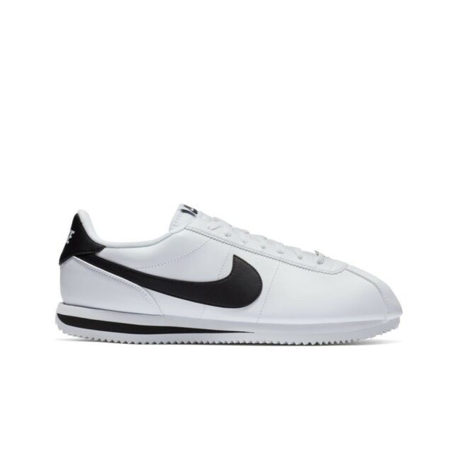 best sneakers e8409 afe16 Men Nike Cortez Basic Leather White Black Metallic Silver 819719100  Original 11