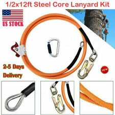 4yang Climb Right 12x12ft Steel Core Lanyard Kit Flipline Swivel Snap Kits New