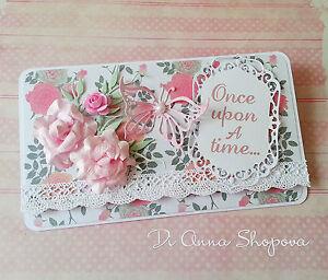 Handmade Wedding Card money/voucher/gift card envelope/wallet, once ...