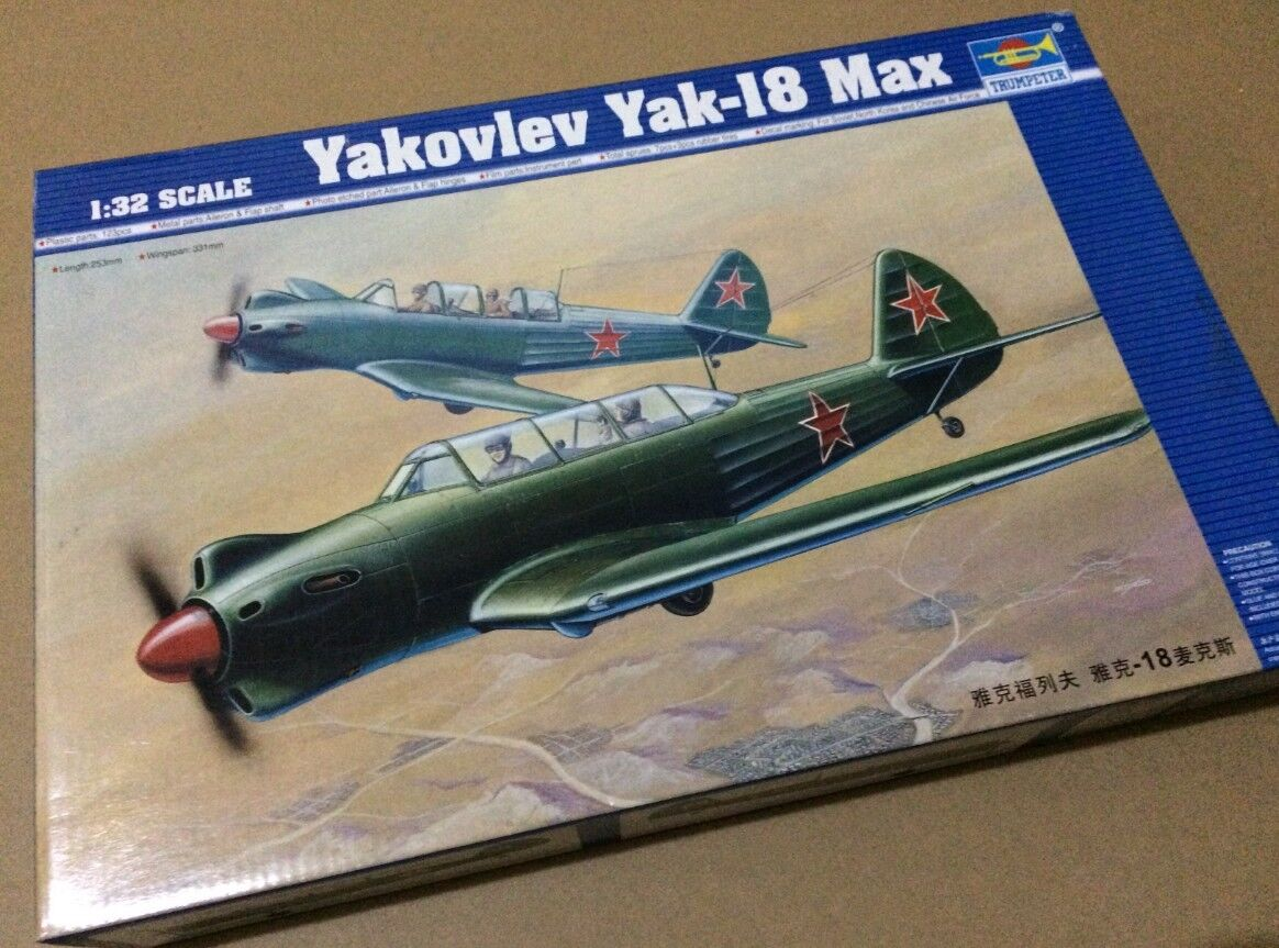 Trumpeter 02213 1 32 Soviet Yakovlev Yak-18 Max Fighter Plane Model Training Jet