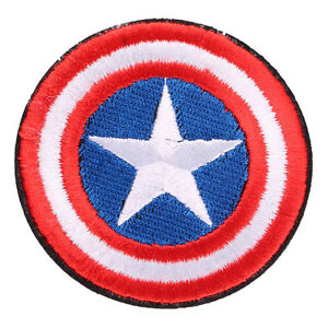 New Captain America Shield Iron On Sew Badge