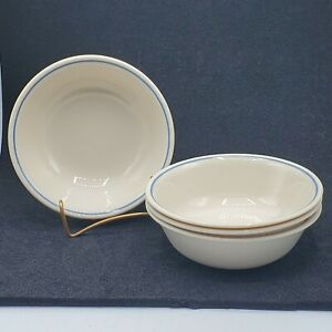 Set-of-4-VTG-Corelle-First-of-Spring-Cereal-Chill-Soup-6-1-4-034-Bowls-Ivory-Blue