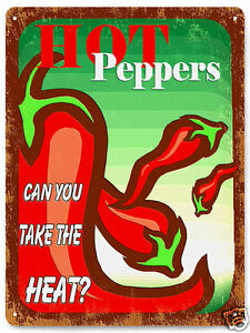 HOT-PEPPERS-metal-sign-hot-sauce-restaurant-jalapeno-great-gift-wall-decor-448