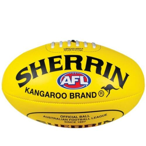 Yellow Soft Touch AFL 25cm SIZE 3 Youth Football From Sherrin