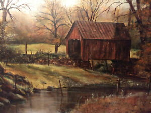 Alice-Skewes-Original-Personalized-Double-Signed-Painting-Canvas-Covered-Bridge
