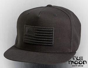 Details about New Quiksilver Men s Tonal Pride USA Flag Snapback Cap Hat 6b40728d487
