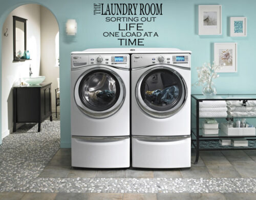 Laundry Sorting out Life  Vinyl Home Wall  Free /& Fast Shipping! 44 Colors