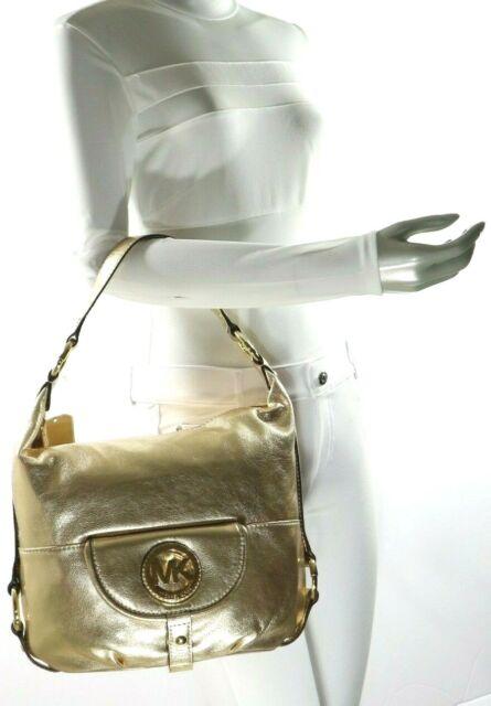 ef3f8927a10920 Michael Kors Fulton Large Leather Shoulder Bag Pale Gold for sale ...