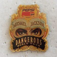 Michael Jackson Dangerous RARE Pepsi Promo Enamel PIN BADGE Pins