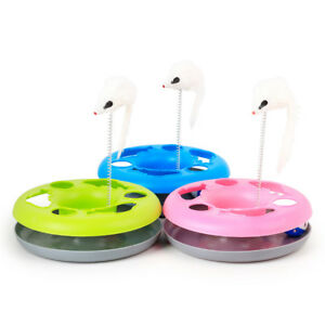 Pet-Cat-Mouse-Ball-Play-Disk-Interactive-Board-Toys-Plate-Funny-Turntable-ToyDP