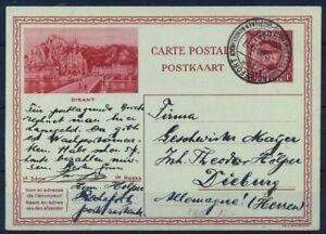 Belgio-1931-Mi-P166-Intero-postale-100-Usato-1-Fr-Rochefort