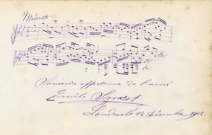 Emile-SAURET-Autograph-musical-quotation-signed-in-full