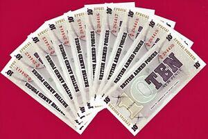 1972 Lot Set of 3 Notes British Armed Forces UK 6th Ser 5 New Pence UNC Crisp