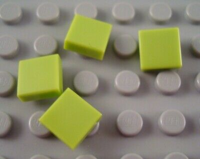 LEGO Lot of 4 White 1x1 Smooth Flat Tile Pieces