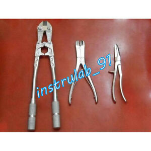 Details about ORTHO WIRE JUMBO BIG CUTTER PLIER SET OF 3 SURGICAL TC  ORTHOPEDIC INSTRUMENTS