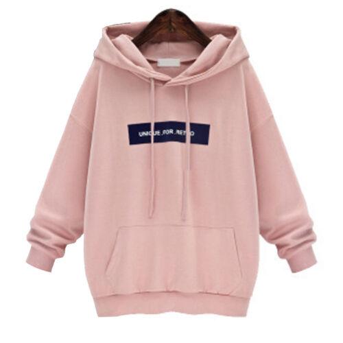 Womens Casual Long Sleeve Hoodie Sweatshirt Cotton Winter Autumn Outwear Sweats