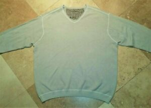 Tommy-Bahama-V-Neck-Sweater-Cotton-Blend-Green-2XL