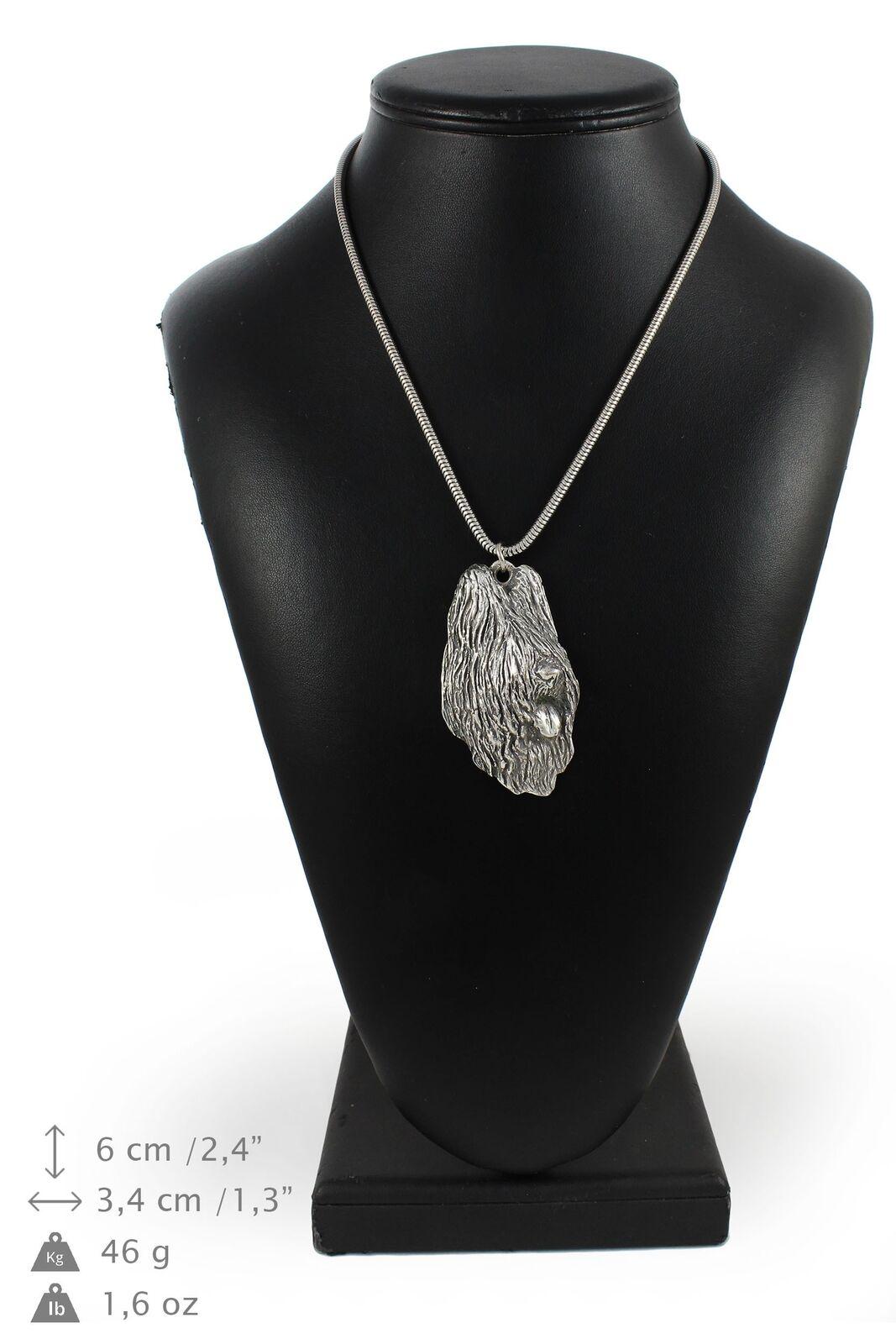 Berger de Brie 2 - collier en silver plaqué sur une chaîne en silver Art Dog FR