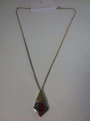 Ann Taylor LOFT Mixed Metal Pendant Necklace NWT $34.