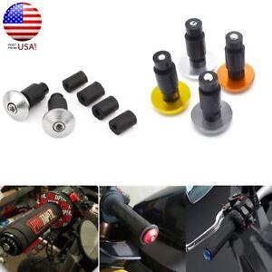 "Black 7//8/"" 22mm Motor Handlebar Grips Bar End Plug Caps Carved Left And Right"